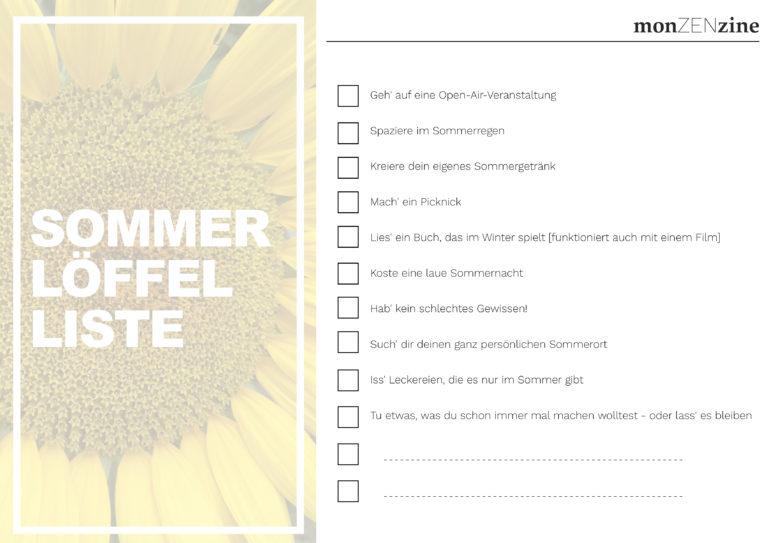 Sommer-Löffel-Liste